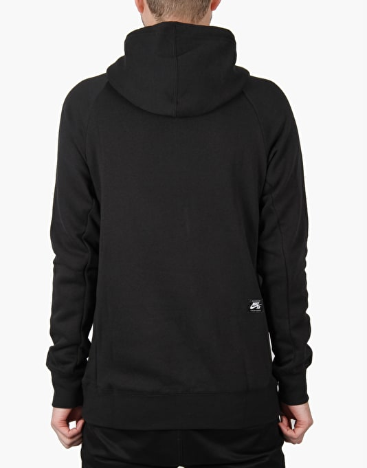 Nike SB Icon Reflective Pullover Hoodie - Black/Reflective Silv