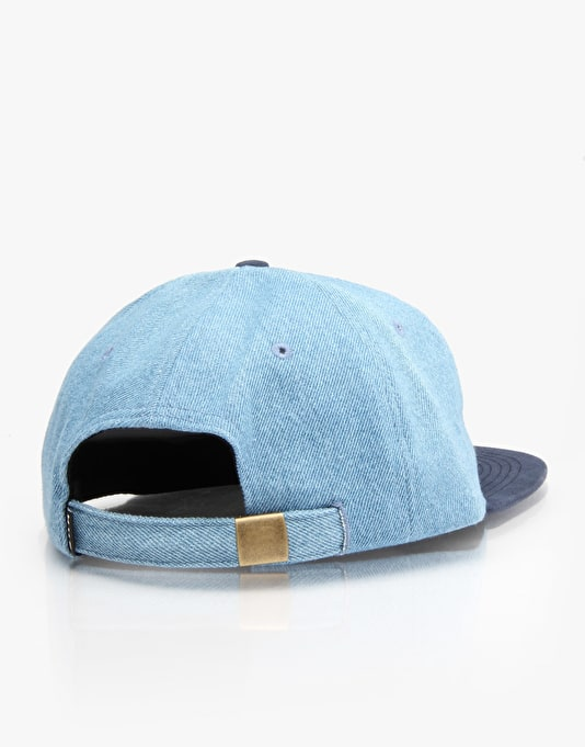 HUF Denim Scipt 6 Panel Cap - Navy