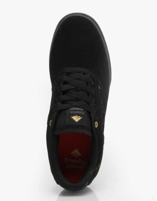 Emerica The Reynolds Low Vulc Skate Shoes - Black/Black