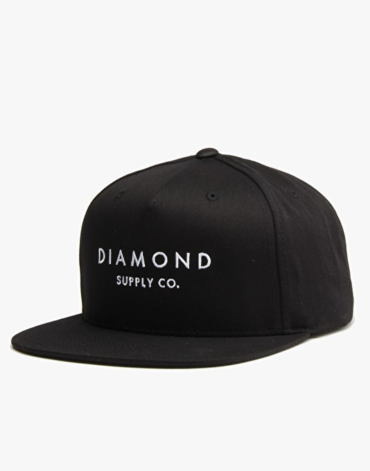 Diamond Supply Co. Stone Cut Snapback Cap - Black