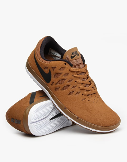 Nike SB Free Skate Shoes - Ale Brown/Black-White