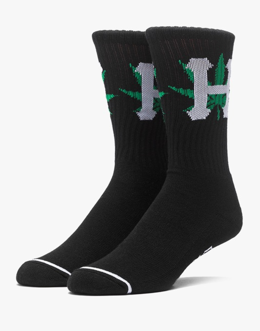 HUF H-Town Crew Socks - Black
