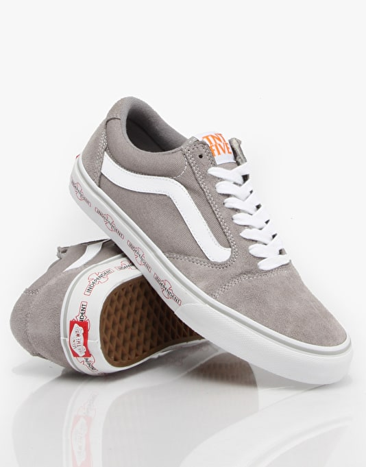 Vans TNT 5 Skate Shoes - Independent Silver