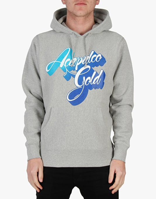 Acapulco Gold 3D Script Fade Pullover Hoodie - Heather Grey