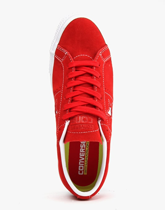 Converse Cons One Star Skate Suede - Red White White