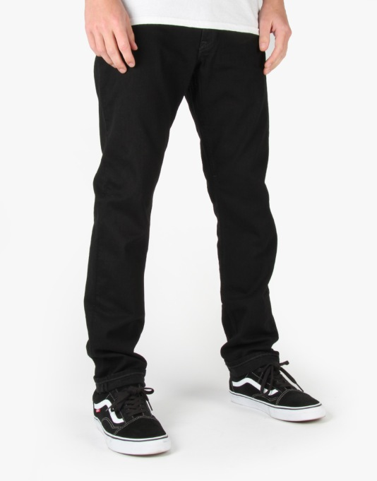DC Worker Straight Jeans - Black/Black Rinse
