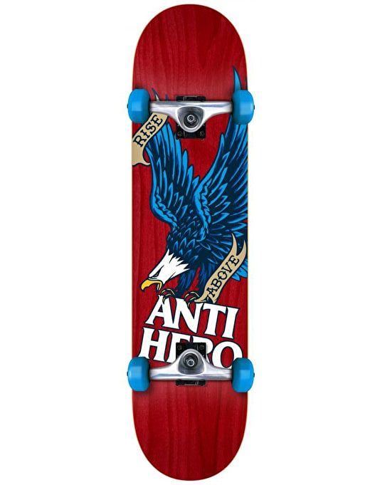 Anti Hero Rise Above Woodgrain Complete Skateboard - 7.75""