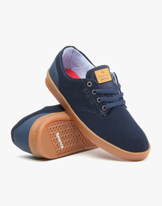 Emerica The Romero Laced Skate Shoes - Dark Blue/Gum