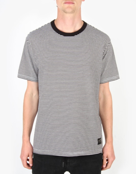 Levi's Skateboarding 2 Pack T-Shirt - Black & White Stripe/Grey