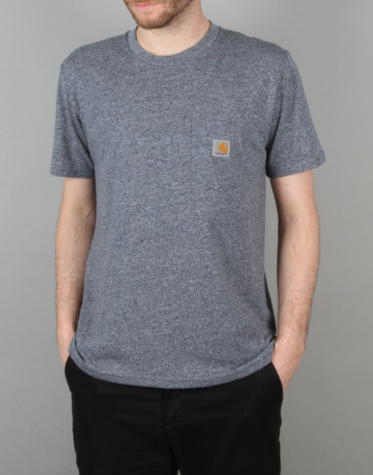 Carhartt Pocket T-Shirt - Blue Noise Heather