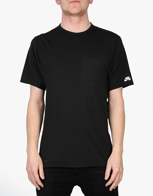 Nike SB Dri-Fit Skyline Pocket Crew T-Shirt - Black/White
