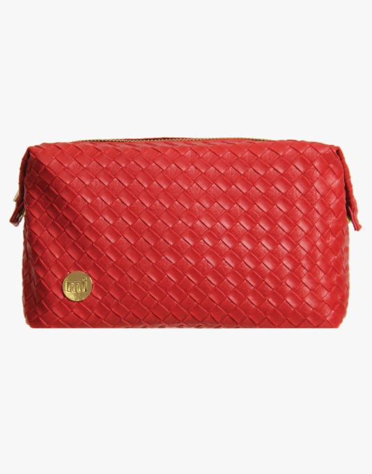 Mi-Pac Gold Wash Bag - Woven Red