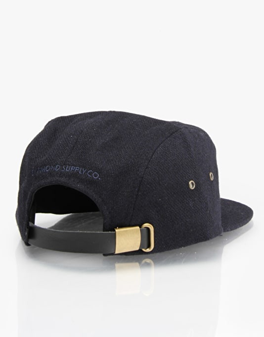 Diamond Supply Co. Melton 98 5 Panel Cap - Navy