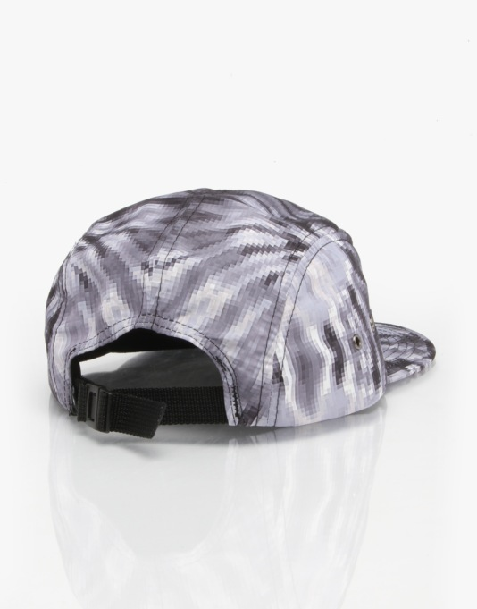 Grizzly Digi Tie Dye 5 Panel Cap - Grey