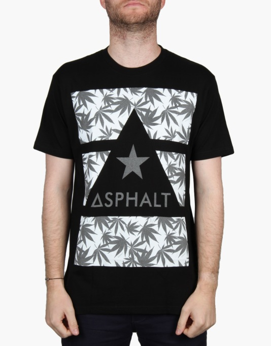Asphalt Yacht Club x Snoop Dogg Lit Reflective Print T-Shirt - Black