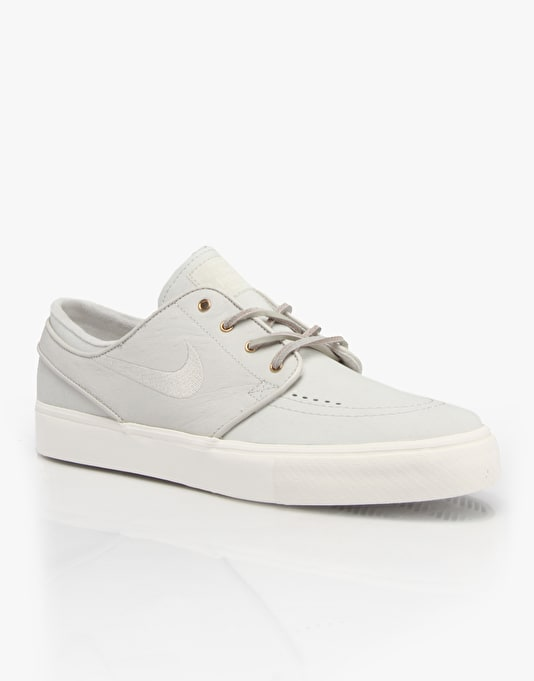 Nike SB Zoom Stefan Janoski Premium Skate Shoes - Light Bone/Bone-Sail