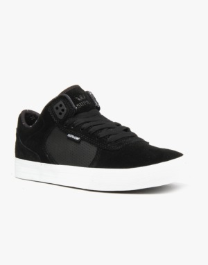 Supra Ellington Vulc Skate Shoes - Black/White