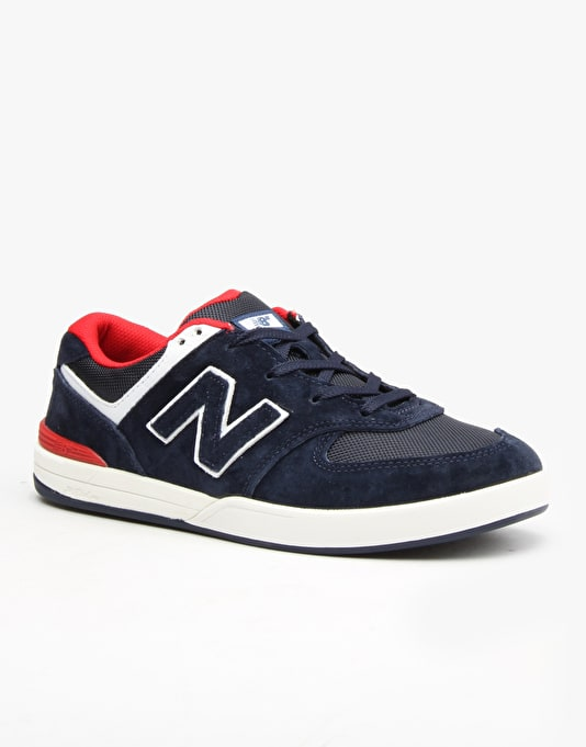 New Balance Numeric Logan-S 636 Skate Shoes - Blue-Suede/Mesh