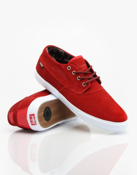 Lakai x Chocolate Camby Mid Skate Shoes - Red