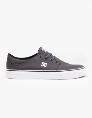 DC Trase TX Skate Shoes - Grey/Grey/White