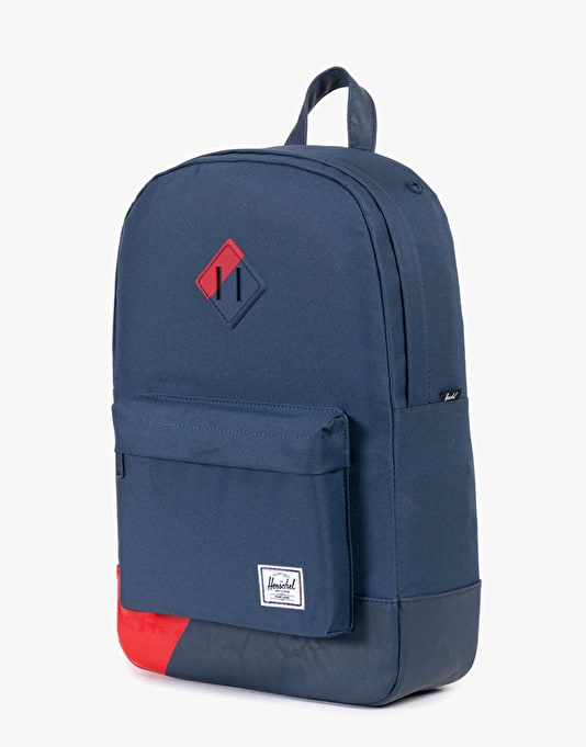 Herschel Supply Co. Heritage Mid Volume Backpack - Navy/Navy/Red