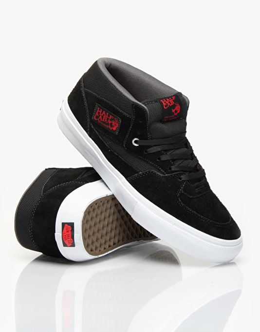 Vans Half Cab Pro Skate Shoes - Black/Red/Charcoal