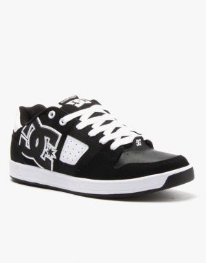 DC Sceptor Skate Shoes - Black/Black/White