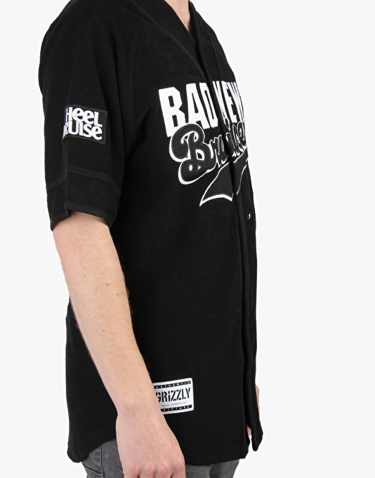 Grizzly x Heel Bruise Bad News Bruisers Stacked Jersey - Black