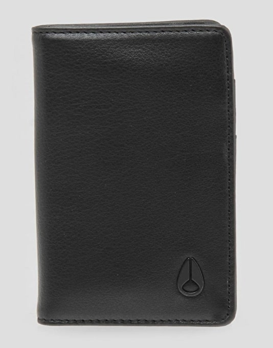 Nixon Suzuka Leather Wallet - All Black