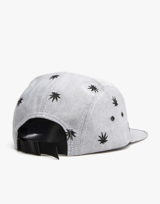 HUF Embroidered Plantlife Volley 5 Panel Cap - Black Oxford