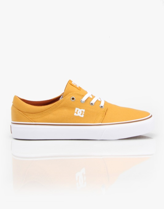 DC Trase TX Skate Shoes - Yellow