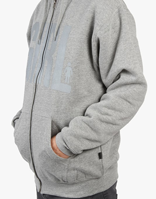 Girl Granville Zip Hoodie - Grey/Heather