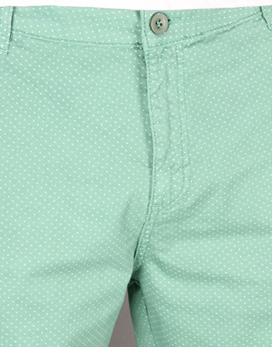 Route One Roll Up Printed Chino Shorts - Mint