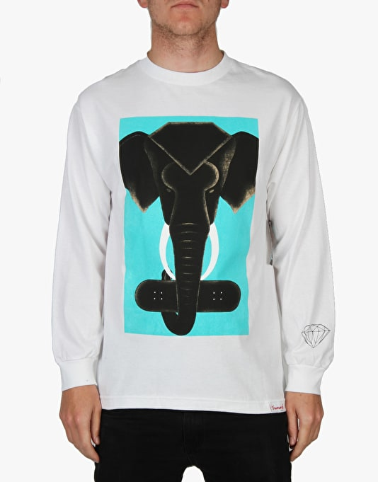 Diamond Supply Co. Tusk L/S T-Shirt - White
