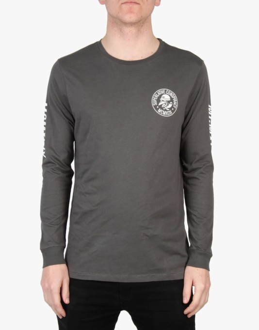 WeSC Mopedoz Long Sleeve T-Shirt - Dark Shadow