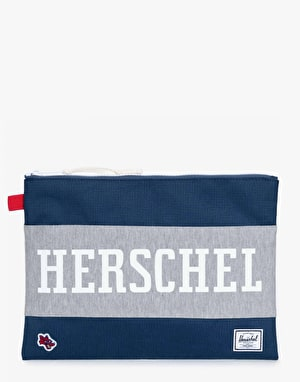 Herschel Supply Co. Hounds Collection Network Pouch XL - Navy/Red