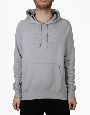 Nike SB Icon Reflective Pullover Hoodie - Wolf Grey/Reflective Silv