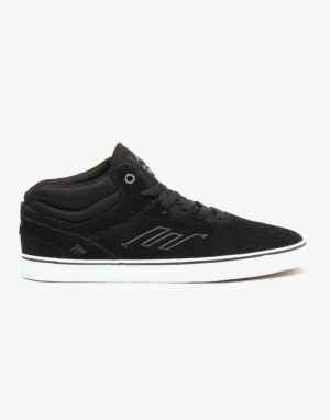 Emerica Westgate Mid Vulc Skate Shoes - Black/White