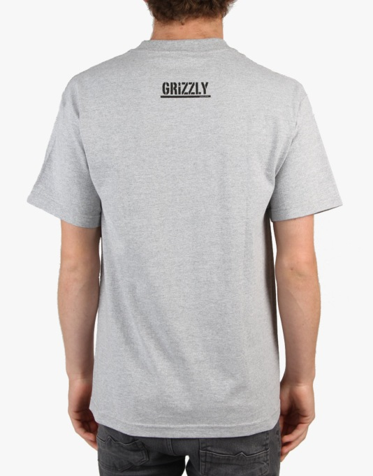 Grizzly Simplicity Bear Pocket T-Shirt Grizzly x Diamond - Heather