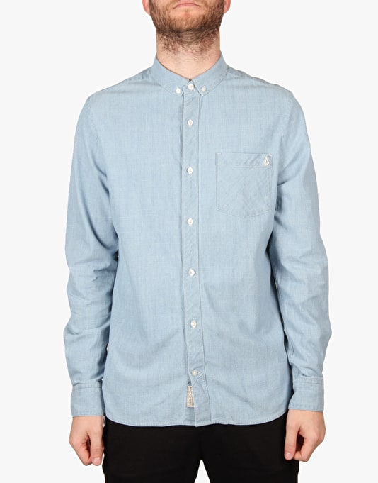 Volcom Weirdo Denim Shirt - Cement