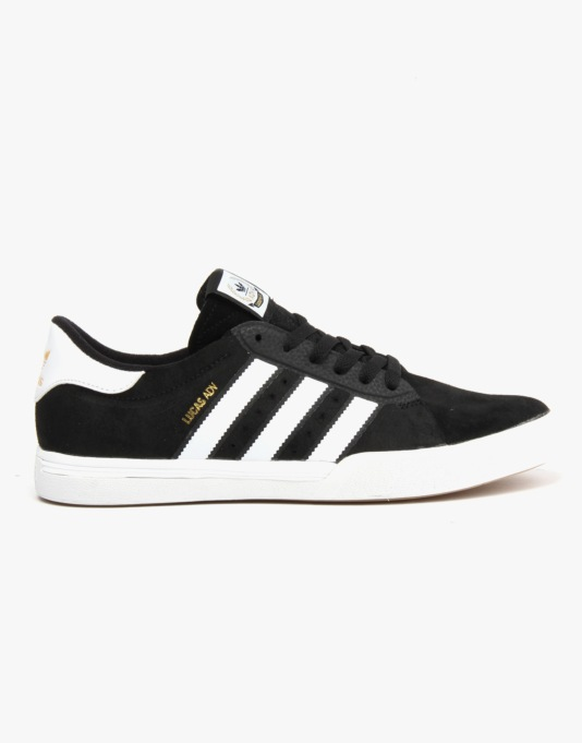 Adidas Lucas ADV Skate Shoes - Core Black/Ftwr White/Gold Met.