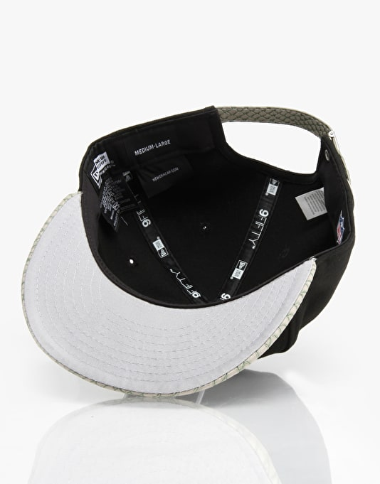 New Era NHL LA Raiders Reptvize Snapback Cap - Black/Grey