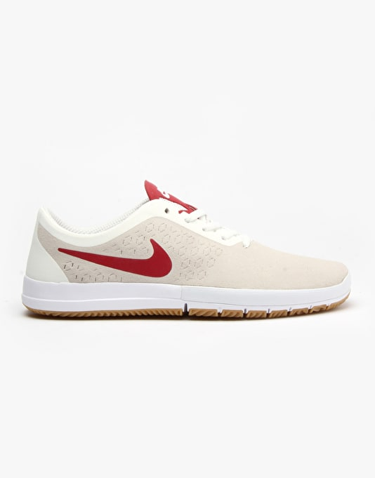Nike SB Free Nano Skate Shoes - Summit White/Gym Red