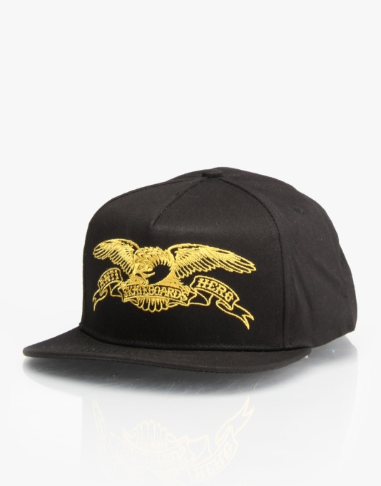Anti Hero Eagle Snapback Cap - Black