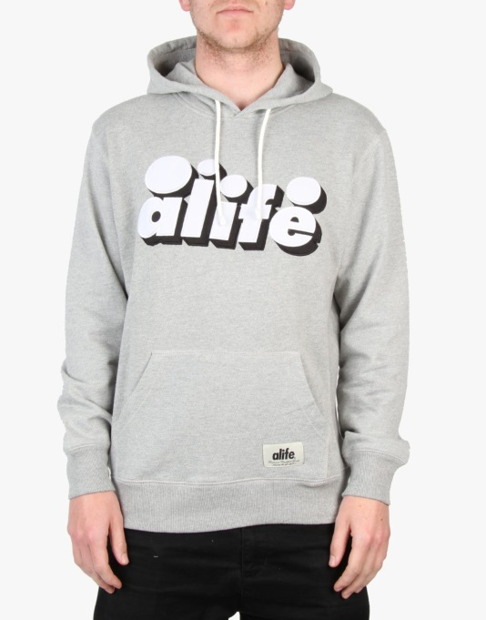 Alife Core Pullover Hoodie - Heather Grey
