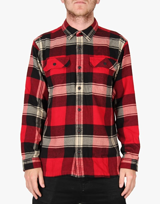 Patagonia Fjord Flannel LS Shirt - Terrace Classic Red