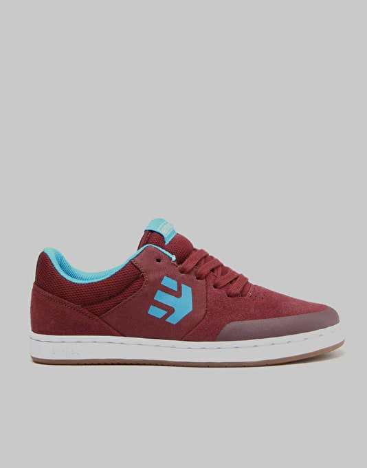 Etnies Marana Boys Skate Shoes - Maroon/White