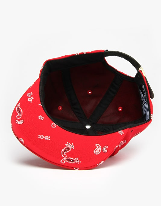 HUF Bandana Metal H Volley 5 Panel Cap - Red