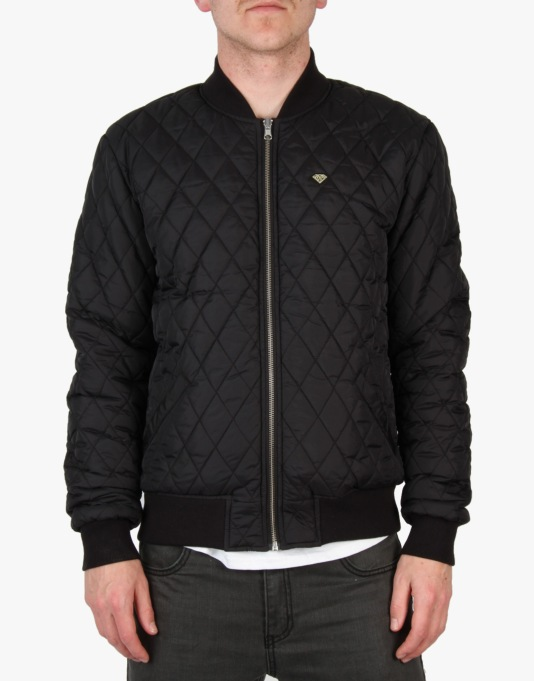 Diamond Supply Co. Reversible Snow Bomber Jacket - Black