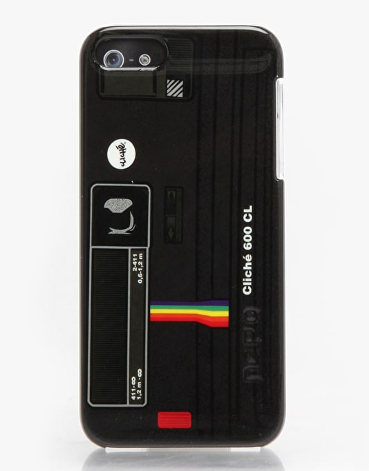 Cliché Polaroid Feather iPhone 5 Case - Black